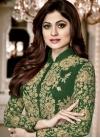 Shamita Shetty Embroidered Work Long Length Designer Suit - 1