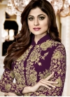Shamita Shetty Faux Georgette Floor Length Designer Salwar Suit - 1