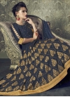 Art Silk Lace Work Readymade Long Length Gown - 1