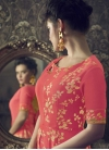 Lace Work Readymade Trendy Gown - 1