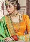 Embroidered Work Banarasi Silk Contemporary Style Saree - 1