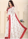 Faux Georgette Embroidered Work Classic Saree - 1