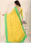 Embroidered Work Faux Georgette Trendy Saree - 2