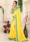 Lace Work Trendy Classic Saree - 1