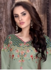 Embroidered Work Semi Patiala Salwar Suit For Ceremonial - 1
