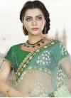 Observable  Net Beads Work Half N Half Saree - 1