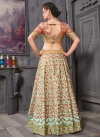 Aari Work Salmon and Turquoise Lehenga Choli - 2
