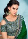 Satin Silk Embroidered Work Trendy Classic Saree - 1