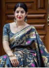 Thread Work Trendy Saree For Festival - 1