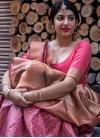 Banarasi Silk Thread Work Trendy Classic Saree - 1