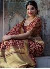 Banarasi Silk Thread Work Classic Saree - 1