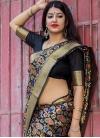 Banarasi Silk Thread Work Contemporary Style Saree - 1
