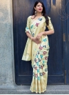 Art Silk Thread Work Classic Saree - 1