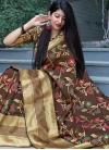 Art Silk Thread Work Traditional Saree - 1