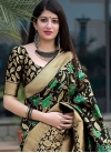 Art Silk Thread Work Contemporary Style Saree - 1