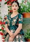 Embroidered Work Satin Silk Designer A Line Lehenga Choli - 1