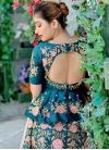 Embroidered Work Satin Silk Designer A Line Lehenga Choli - 2