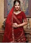 Embroidered Work Velvet Trendy A Line Lehenga Choli - 1