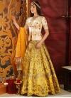 Silk Embroidered Work Designer Long Choli Lehenga - 1