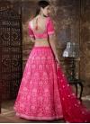 Silk Aari Work A Line Lehenga Choli - 1