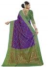 Banarasi Silk Thread Work Blue and Green Traditional Saree - 2
