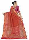 Fuchsia and Tomato Traditional Designer Saree - 2