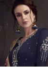 Satin Georgette Embroidered Work Pant Style Salwar Kameez - 1