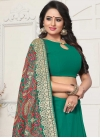 Embroidered Work Faux Georgette Designer Traditional Saree For Ceremonial - 1