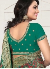 Embroidered Work Faux Georgette Designer Traditional Saree For Ceremonial - 2