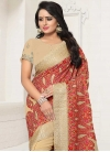 Embroidered Work Faux Georgette Classic Saree - 1