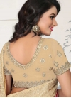 Embroidered Work Faux Georgette Classic Saree - 2