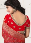 Embroidered Work Faux Georgette Trendy Classic Saree - 2