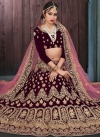 Embroidered Work A Line Lehenga Choli - 1