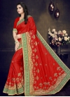 Embroidered Work Art Silk Trendy Classic Saree - 1
