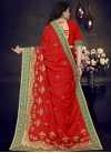 Embroidered Work Art Silk Trendy Classic Saree - 2