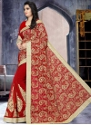 Faux Georgette Designer Contemporary Saree For Ceremonial - 1