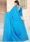 Art Silk Lace Work Trendy Classic Saree - 2
