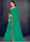 Art Silk Digital Print Work Designer Traditional Saree - 1