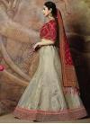 Grey and Red Trendy Lehenga Choli For Festival - 1