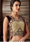 Jacquard Silk Designer Lehenga Saree - 1
