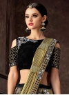 Black and Gold Lehenga Style Saree - 1