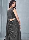 Black and Grey Lycra Designer A Line Lehenga Choli - 1