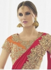 Net Embroidered Work Lehenga Saree - 1