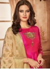Tafeta Silk Embroidered Work Readymade Layered Gown - 1