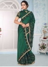 Beads Work Net Trendy Saree - 1