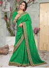 Art Silk Beads Work Traditional Designer Saree - 1