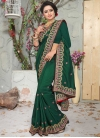 Beads Work Contemporary Saree - 1