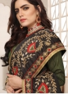 Beige and Brown Beads Work Trendy Classic Saree - 2