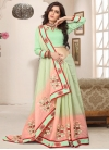 Cutdana Work Mint Green and Peach Contemporary Saree - 1