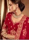 Embroidered Work Velvet Trendy A Line Lehenga Choli - 2